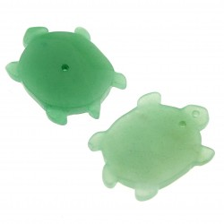 Green aventurine turtle