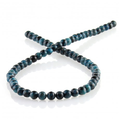 blue labradorite - 6 mm round beads
