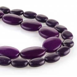 Purple jade – oval carving