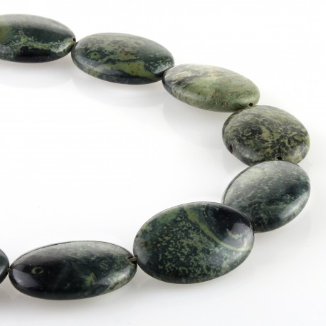 Kambaba jasper – oval carving