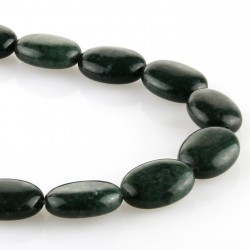 Green jasper – oval carving