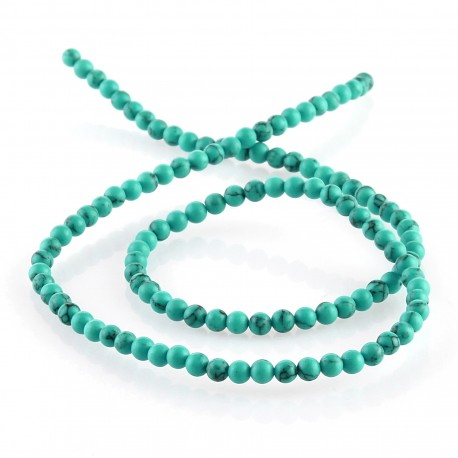 Synthetic turquoise - 3 mm round beads