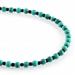Turquoise with intervals - round beads