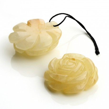 Yellow aventurine rose