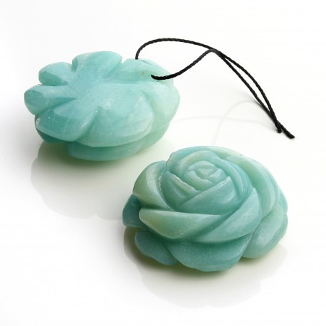 Amazonite pendant - rose