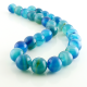 Blue Agate round beads - 14 mm