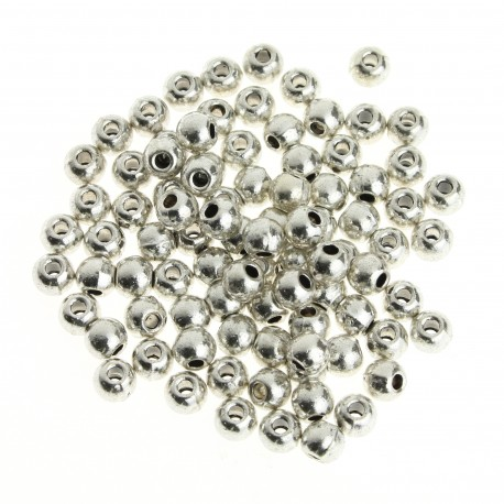 Smooth metal round bead (70 pcs)