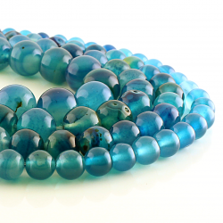 Blue Agate round beads