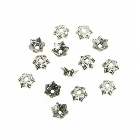 Star bead cap, 125 pcs
