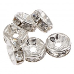 Rhinestones spacer, 15 pcs