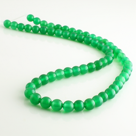 Verde Agate round beads - 6 mm
