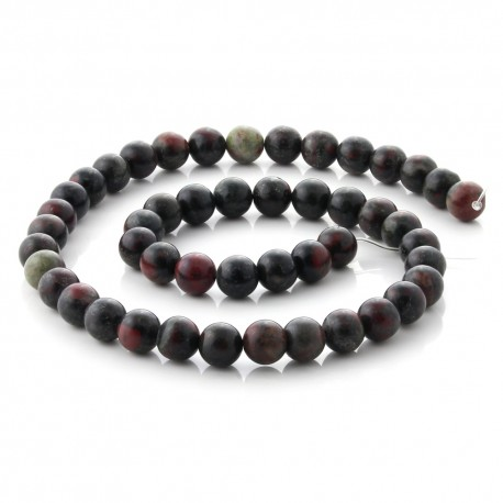 Dragon Blood Jasper round beads