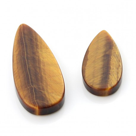 Tiger Eye gems in teardrop shape