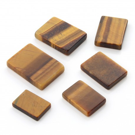 Tiger Eye Gem in rectangle shape