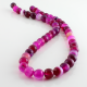 Pink Agate round beads - 8 mm