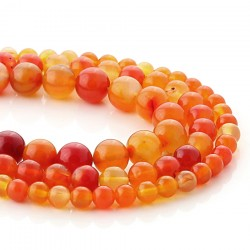 Orange agate spherical beads