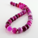 Pink Agate round beads - 10 mm