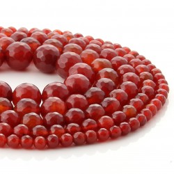 Carneola faceted beads