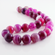 Pink Agate round beads - 14 mm