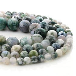 Mossy agate beads