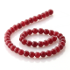 Ruby Jade round beads 8 mm