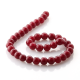 Ruby Jade round beads 10 mm