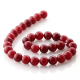 Ruby Jade round beads 12 mm