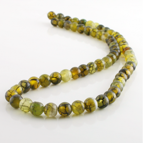 6 mm Green Dragon Agate round beads