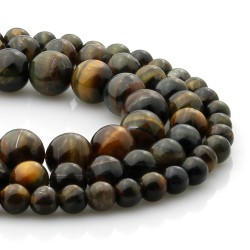 Natural hawk eye beads