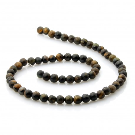 Natural 6 mm hawk eye beads
