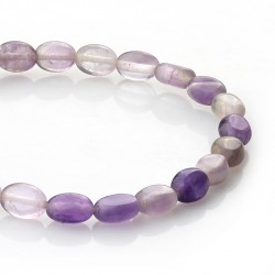 Amethyst - oval beads