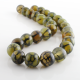 14 mm Green Dragon Agate round beads