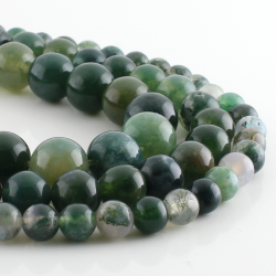 Gray Dragon Agate round beads