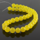 10 mm Yellow jade round beads