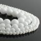 White jade round beads