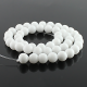 8 mm White jade round beads