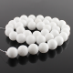 10 mm White jade round beads