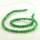 4 mm Green aventurine round beads