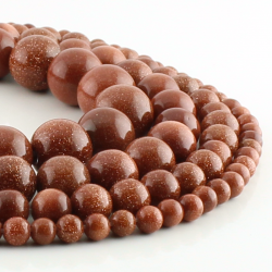 Sandstone round beads