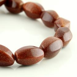 Sandstone barrel beads