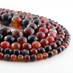 Miracle Agate faceted round beads