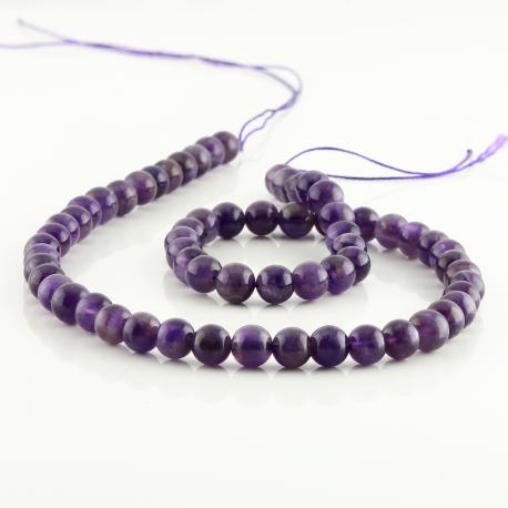 6 mm Amethyst round beads