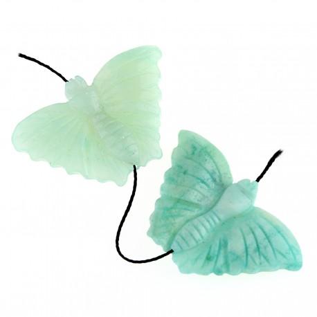 Mariposa en aventurina verde