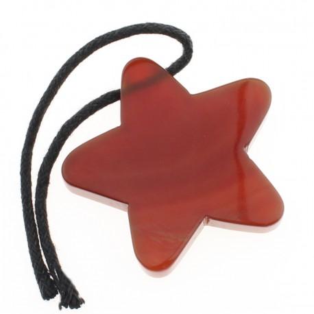 Carnelian star pendant