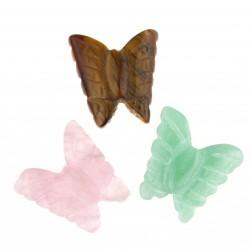 Mariposa en piedras semipreciosas