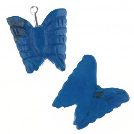 Mariposa en turquenita azul