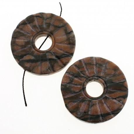 Donut carved in jasper
