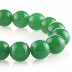 Green jade – 18 mm round beads