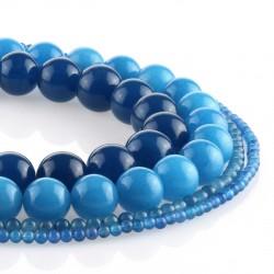 Blue Jade – round beads