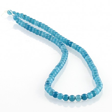 Blue Jade – 4 mm round beads
